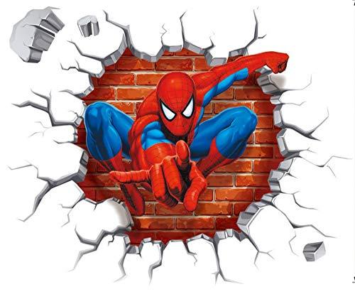 Spiderman 3D Pegatinas Spiderman Pegatinas Decorativas Pared Spiderman Pegatinas de Pared de Spiderman Para Niños Decoración de la Pared Stickers Spid