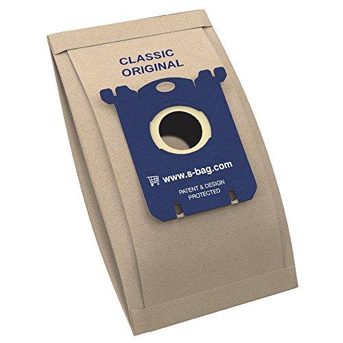 Electrolux / AEG E200B s-bag Staubsaugerbeutel classic (5x Staubbeutel für dauerhaft hohe Saugleistung, optimale Filtration, Hygieneverschluss, hochwertige Papierbeutel, braun)