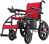 BXZ Silla de ruedas Ligera inteligente Plegable Llevar Sillas de ruedas eléctricas para adultos, Sillas eléctricas para discapacitados con joystick de 360 °, Silla de ruedas eléctrica de doble func