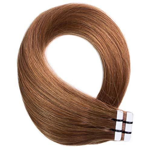 Just Beautiful Hair 20 x 2.5 g Extensions bande adhésives #8 noisette 60cm