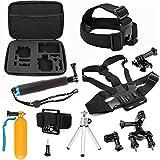 SHOOT 8in1 Zubehör Set für GoPro Hero 5 4 3+ 3 2 1 Black Silver Aktion Kamera Zubehör-Kit für SJ4000 SJ5000 SJ6000/ Xiaomi Yi