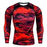 U/A T-shirt à manches longues pour homme Automne et Hiver - Rouge - 3XL