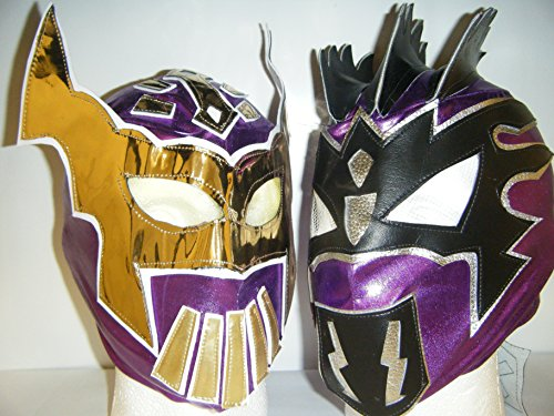 Sin Cara & Kalisto–The Lucha Dragons para Niños con cremallera Lucha Libre Máscaras, color morado