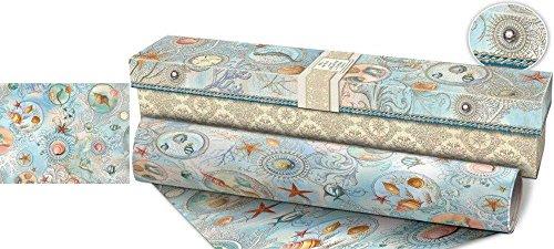 Punch Studio Seascape Drawer Liner in Keepsake Box