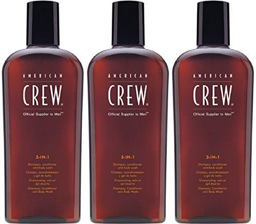 American Crew 3 in 1 Shampoo Conditioner & Bodywash 3 x 250ml = 750 ml