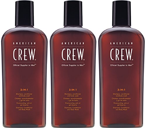American Crew 3 in 1 Shampoo Conditioner & Bodywash 3 x 250ml = 750 ml
