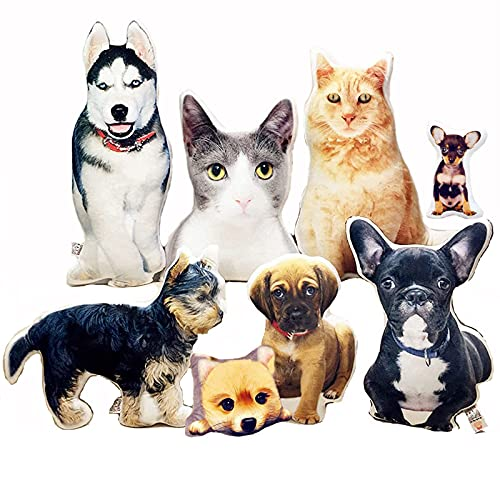 Cojin Personalizado Almohada con Forma De Mascota - Fotos Personalizadas Almohada De Felpa con Impresión A Doble Cara - Cojines Personalizados con Foto - Mascota, De Dibujos Animados, Humana
