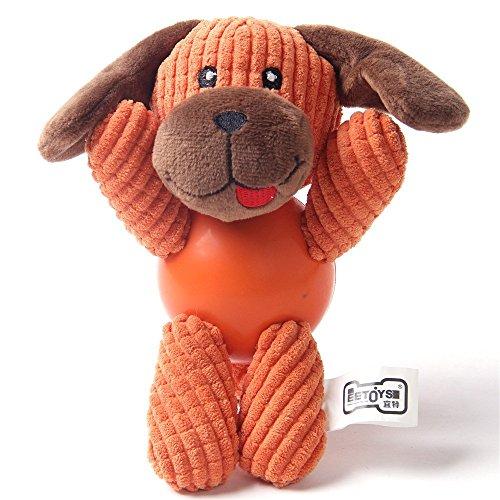 Wuudi-Hundespielzeug Plüsch Sound Haustier,Die Spielzeug - Hund ca. 8 * 6cm (Orangen (Welpen))