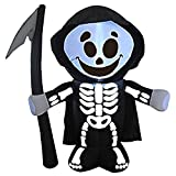 Joiedomi Halloween 5 FT Inflatable Reaper with Build-in LEDs Blow Up Inflatables for Halloween Party Indoor, Outdoor, Yard, Garden,...