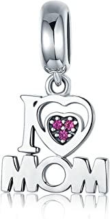 81507b182 Everbling I Love Mom Mother Family Angel 925 Sterling Silver Bead Fits  Pandora Charm Bracelet