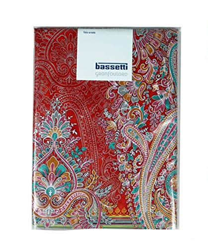 Bassetti Tela decorativa para sofá, manta, toalla de playa, pícnic, multiusos Granfoulard Elba 270 x 270 cm, 100 % algodón, fabricada en Italia (Elba roja)