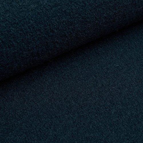 (19,99€/m) Fabian - Kochwolle/Strickloden - hochwertiger Wollstoff aus 100% Schurwolle (per Meter, petrol)
