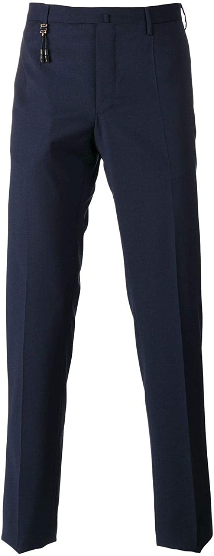 INCOTEX Men's 1AT0305855E822 blueee Wool Pants
