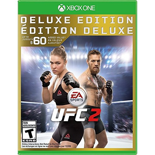 EA Sports UFC 2 Deluxe Edition for Xbox One rated T - Teen