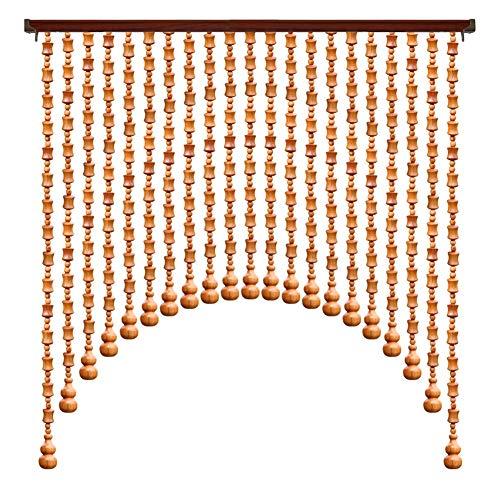 WUFENG rideau Rideau De Perles Bois Massif Couper Salon Entrée Décoration Protection Environnementale Rideau De Porte, Plusieurs Tailles Personnalisable