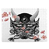 Lidanie 500 Pieces Art Picture Wooden Jigsaw Puzzle Traditional Female Japanese Demon Tattoo Design Jigsaw Puzzles for Adults Teens Funny Family Game Hanging Home Decoration