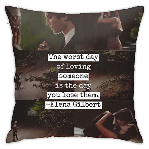 EOUNMSU The Vampire Di-Aries Damo-n Sal-vatore Durable Polyester Fleece Pillowcase Throw Pillow Covers Cases Square Hug Pillowcase Decorative Cushion Covers Cushion Case for Sofa 18