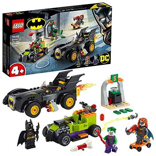 LEGO 76180 DC Batman vs. Joker: Verfolgungsjagd im Batmobil, Geschenk zum Vatertag, Vatertagsgeschenk, Set mit Autos und Superhelden für Kinder ab 4 Jahre