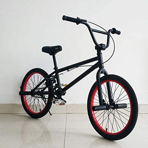 SWORDlimit TF-1フリースタイルBMXバイク(初心者から上級者向け)、高炭素鋼フレーム、アルミニウム合金U字型リアブレーキおよび20インチホイール付き,A