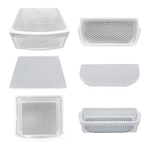 Fridge Coaster Fridge Pack, Set of 6, Grey
