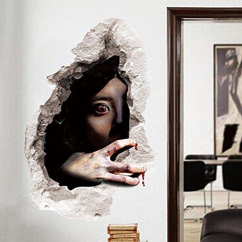 Halloween-wand-aufkleber Horror Ghost Wallpaper Happy Halloween Haushalt Wand Aufkleber Wandbild Dekor Aufkleber Abnehmbare Terror Zufälligen Stil