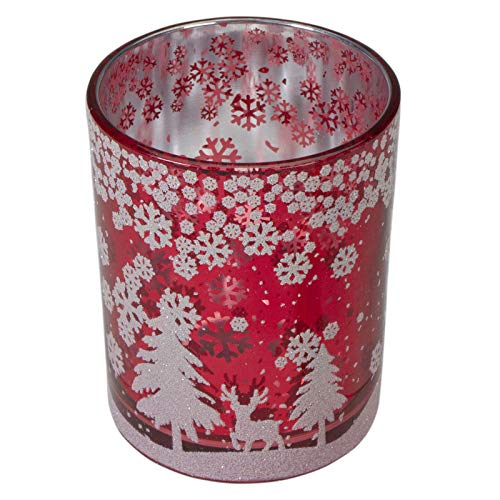 1 pcs Candle Holder 5-Inch Deer in Winter Woods Flameless - Holidaay Decorationss - XMAS10