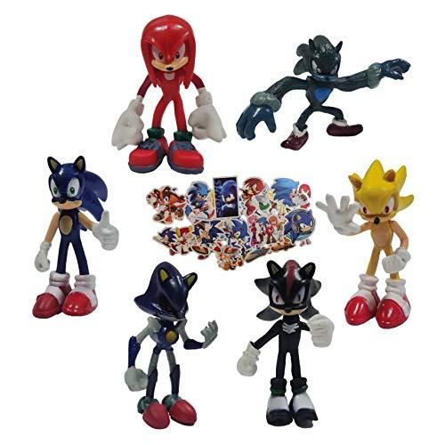 Figura de anime Sonic Erizo para niños reutilizable pastel decoración juguete niño y niña regalo