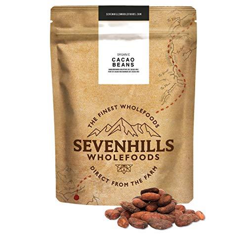 Sevenhills Wholefoods Fèves De Cacao Cru Bio 500g (Beauté et hygiène)