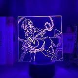 Lámpara de noche 3D ilusión anime LED RE-cero en otro mundo de luz nocturna LED para decoración de habitaciones, regalo RE Null REM, lámpara 3D MAOJIE
