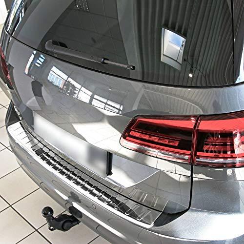 Recambo CT-LKS-2330 LADEKANTENSCHUTZ Edelstahl Glanz für VW Golf SPORTSVAN | ab 2014 | mit Abkantung, Large