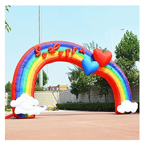WANGF Arco inflable 6 m/8 m boda inflable arco historieta inflable arco iris puerta celebración arco arco arco grueso profesional Oxford paño fácil de llevar