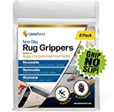 GRIP NO SLIP! Rug Pads. Double Sided Rug grippers for Wooden Floors. Double Sided, Washable and Reusable for Rugs on Hardwood Floors, Tiles, Laminates. Area Rugs and Mats!