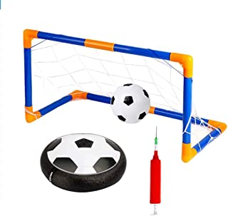 LED Light Flashing Ball Toys Air Power Soccer Balls Multi-Surface Hovering Football with Inflatable Soccer Ball Gate Kakiyi