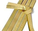 """24x Quilling Papier-Streifen""""Glitter-Gold""""Faltstreifen Fröbelstreifen Paper Flechtsteifen"""