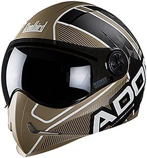 Steelbird Men's ISI Certified Helmets Adonis Majestic With Smoke Visor in Matt Finish (600 MM Large, matt desert Storm with Dark Grey)