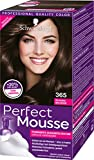 Schwarzkopf Perfect Mousse Permanente Schaumcoloration, 365 Schoko Brownie Stufe 3, 3er Pack (3 x 93...