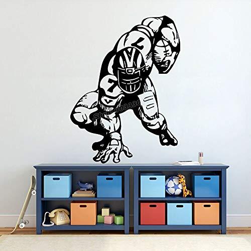 Fútbol pegatinas de pared fútbol pelota actividades deportivas tatuajes de pared dormitorio niños niñas niños decoración de la habitación diseño de calcomanías de vinilo
