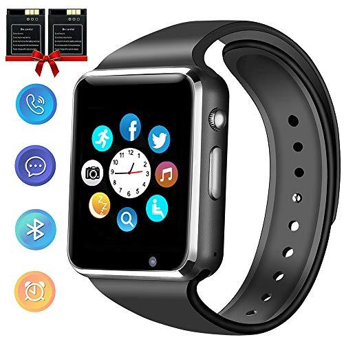 ANCwear Bluetooth Smart Watch, Smartwatch mit SIM-Karte Steckplatz Kamera Musik Spielen Sport Smart Watch Telefon mit Schrittzähler Schlafmonitor Kompatible Android-Handys für Frauen Männer Kinder