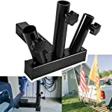 Yoursme 2021 Upgraded Hitch Mount 3 Flagpole Holder Fits Standard 2 inches Hitch Receivers, Durable and Anti-Rust