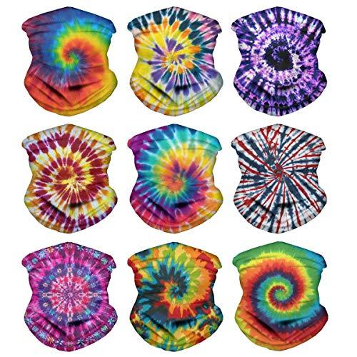Tupalatus - Juego de bufanda mágica para mujer y hombre, pasamontañas con protección UV