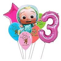風船 32インチナンバー球の風船ケーキトッパーベビーシャワーの誕生日パーティー用品ベビーシャワー (Color : Clear)
