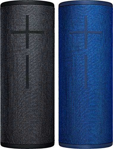 Ultimate Ears MEGABOOM 3 Portable Bluetooth Wireless Waterproof Speaker (2-Pack) - Lagoon Blue/Night Black