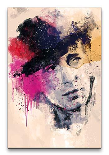 Humphrey Bogart Casablanca Porträt Abstrakt Kunst Hut Kult 60x90cm Leinwandbild