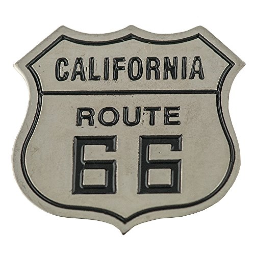 Route 66 USA California Motorrad Biker Route 66 Metall Button Badge Pin Anstecker 0719