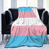 Manta de moda con bandera de orgullo transgénero LGBT, manta de forro polar, manta lavable para sofá, sofá y sofá borroso, manta de playa reversible para el hogar y la oficina
