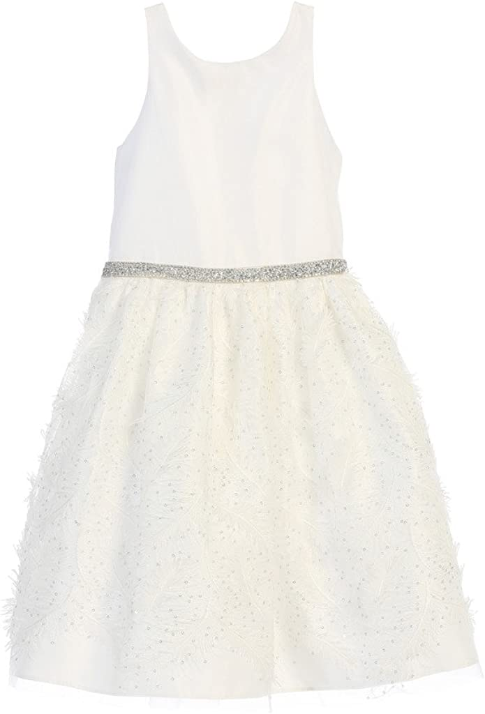 Rare Sweet Kids Girls' New life Feather 6-16Y Cocktail Patch Dress