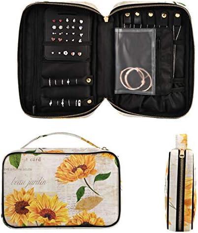 Women Travel Jewelry Organizer Bag Popular popular Vibrant Watercol Drawn - New sales Hand