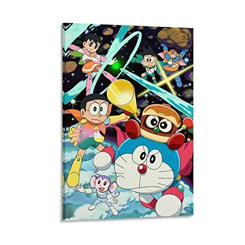 Doraemon Nobita's Space Heroes Póster decorativo de lienzo para pared, para sala de estar, dormitorio, 60 x 90 cm