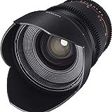 Samyang 16/2,2 Objektiv Video DSLR II Canon EF manueller Fokus Videoobjektiv 0,8 Zahnkranz Gear,...