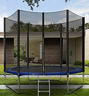 Trampoline for kids outdoor with net, 8ft With Ladder for Indoor/Garden